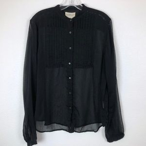 Ralph Lauren Denim & Supply Black Sheer Top